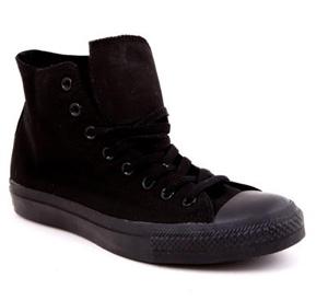 Ghete Converse negre din material textil